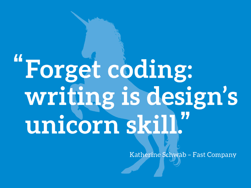 Writing is design's unicorn skill